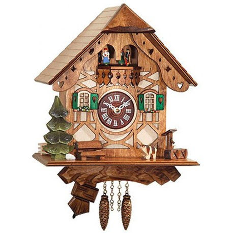 Engstler Quartz Clock Half-Timbered House