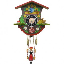 Engstler Quartz Clock with Swinging Girl