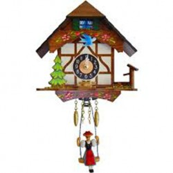 Small Engstler One-Day Mechanical Clock Half-Timbered