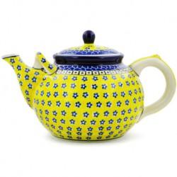 Polish Pottery Tea or Coffee Pot - 61 oz. - Sunburst