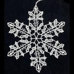 Lace Ornament - Snowflake B