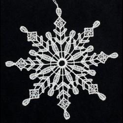 Lace Ornament - Snowflake D