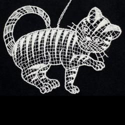 Lace Ornament - Cat