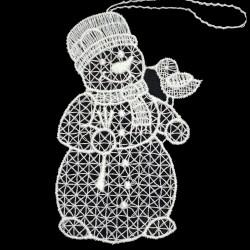 Lace Ornament - Snowman