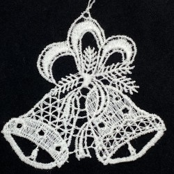 Lace Ornament - Two Bells