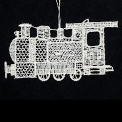 Lace Ornament - Train