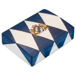 Polish Wooden Box - Bavarian Flag
