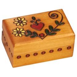 Polish Wooden Box - Gold Heart Box