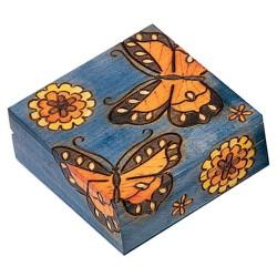 Polish Wooden Box - Butterflies