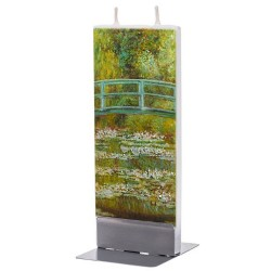 Flat Candle - Japanese Footbridge by Monet