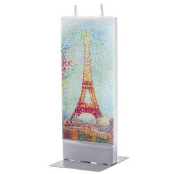 Flat Candle - Eiffel Tower by Seurat