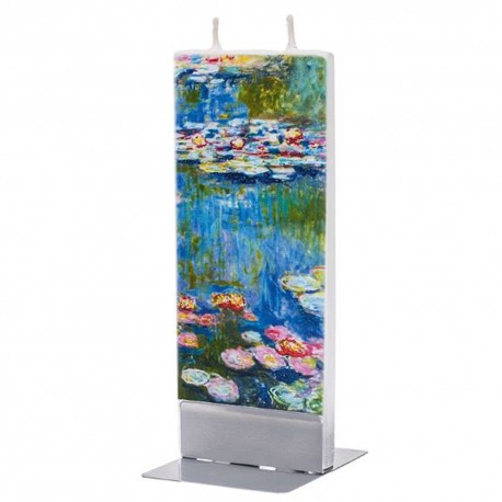 Flat Candle - Water Lilies by Monet