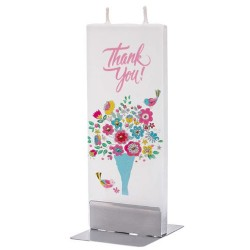 Flat Candle - Thank You Bouquet