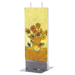 Flat Candle - Sunflowers by Van Gogh
