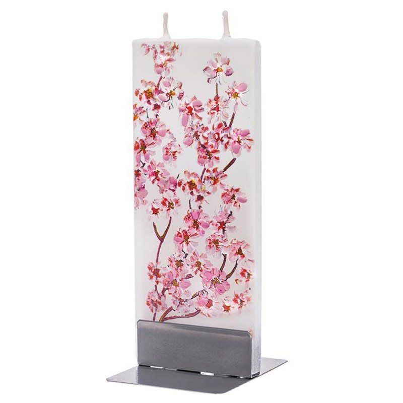Flat Candle Pink Cherry Blossoms