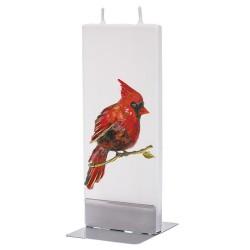 Flat Candle - Cardinal