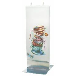 Flat Candle - Teacups
