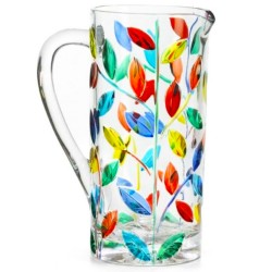 Italian Glass Pitcher - Tree of Life Multicolor