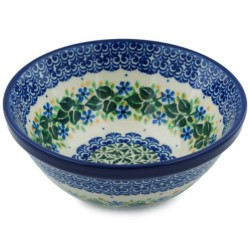 "Polish Pottery Bowl - 5.5"" - Ivy Trail"