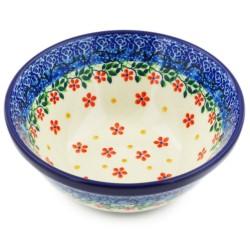 "Polish Pottery Bowl - 5.5"" - Red Splendor"