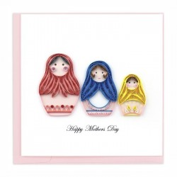 Quilling Card - Mother's Day Nesting Dolls