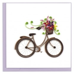 Quilling Card - Bicycle with Flowers