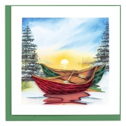 Quilling Card - Canoes