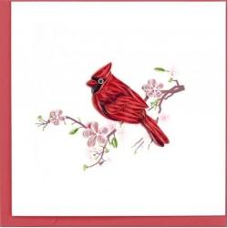 Quilling Card - Cardinal