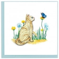 Quilling Card - Cat with Butterfly