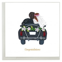 Quilling Card - Just Married