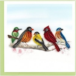 Quilling Card - Songbirds