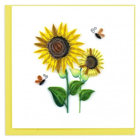 Quilling Card - Sunflowers and Bees