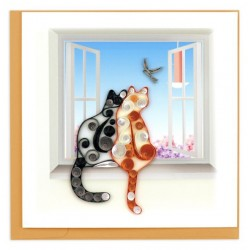 Quilling Card - Two Cats