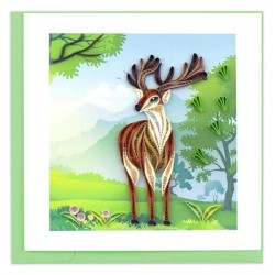 Quilling Card - Stag