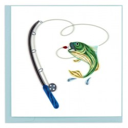 Quilling Card - Gone Fishing