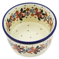 "Bowl - 4"" - Burgundy Wreath"