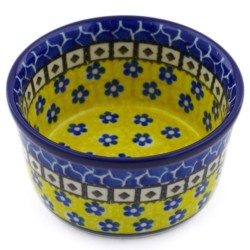 "Polish Pottery Bowl - 4"" - Sunburst"