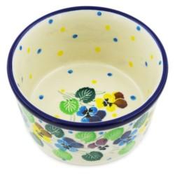 """Bowl - 4"""" - Colorful Pansies"""