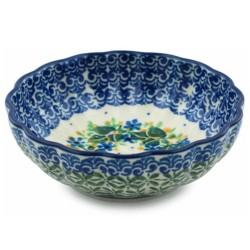 """Scalloped Bowl - 5"""" - Ivy Trail"""