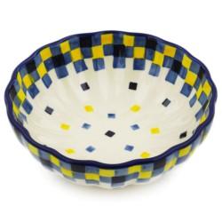 """Scalloped Bowl - 5"""" - Checkerboard"""