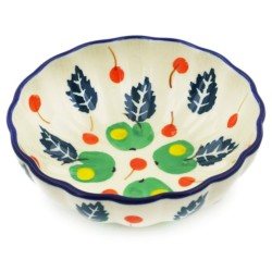"""Scalloped Bowl - 5"""" - Apple Orchard"""