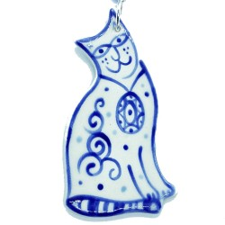 Handmade Ceramic Ornament - Cat