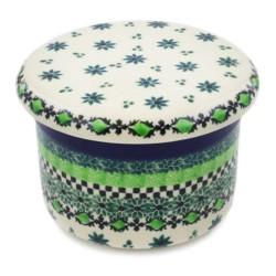 Polish Pottery French Style Butter Crock - Emerald City