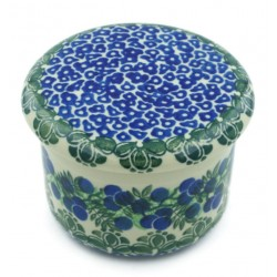 Polish Pottery French Style Butter Crock - Very Berry