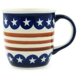 Polish Pottery Mug - 12 oz - Americana