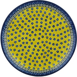 "Polish Pottery Plate - 10"" - Sunburst"