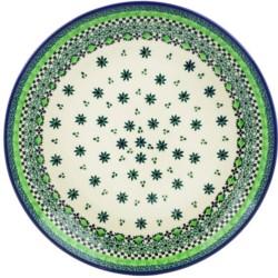 "Polish Pottery Plate - 10"" - Emerald City"