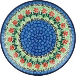 "Polish Pottery Plate - 8"" - Maraschino"