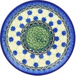 "Polish Pottery Plate - 8"" - Royal Lattice"