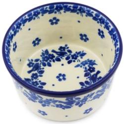 "Polish Pottery Bowl - 4"" - Blue Birds"